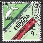Sellos de Europa - España -  XXIII Congreso Internacional de Ferrocarriles - Málaga 1982 - Cigüeñas