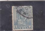 Sellos de Asia - India -  IDOLO BOOHISATTVA