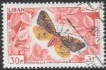 Sellos de Asia - Líbano -  mariposas