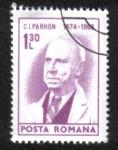 Sellos de Europa - Rumania -  Aniversarios culturales 1974, Dr. C. I. Parhon (1874-1969) médico