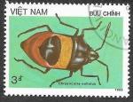 Sellos de Asia - Vietnam -  1709 - Insecto
