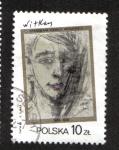 Sellos de Europa - Polonia -  Pinturas de S. I. Witkiewicz, Autorretrato, 1931, de S. I. Witkiewicz