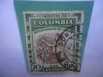 Sellos de America - Colombia -  Cosecha de Café - Serie: Departamento de Caldas.