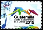 Sellos del Mundo : America : Guatemala : GUATEMALA CAPITAL IBEROAMERICANA DE LA CULTURA 2015