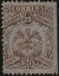 Sellos del Mundo : America : Colombia : Escudo antiguo de la  República de Colombia.
