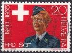 Sellos del Mundo : Europa : Suiza : mujer en uniforme FHD