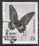 Sellos de Asia - Sri Lanka -  mariposas