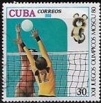 Sellos del Mundo : America : Cuba :   XXII Juegos Olímpicos, Moscú, 1980