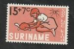 Sellos del Mundo : America : Surinam : 418 - Niña y tortuga