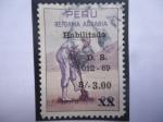 Sellos de America - Perú -  Reforma Agraria - (Sello habilitado 1969 - 3,oo/20 cent. de soles)