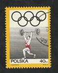 Sellos del Mundo : Europa : Polonia :  1760 - 50 Anivº del Comité olímpico polaco, Halterofilia