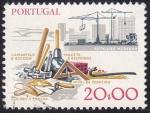 Sellos de Europa - Portugal -  construcción moderna & herramientas