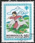 Sellos de Asia - Mongolia -  Año Internacional del niño - ovejas