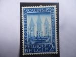 Sellos de Europa - Bélgica -  Exposition Scaldis-Julio-Sep. 1956 - Exposición Scaldis