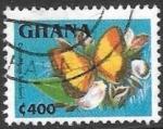 Sellos de Africa - Ghana -  mariposas