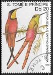 Sellos de Africa - Santo Tomé y Principe -  Aves  Topaza Bella
