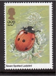Sellos del Mundo : Europa : Reino_Unido : serie- Insectos
