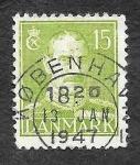Sellos de Europa - Dinamarca -  281 - Rey Cristián X de Dinamarca