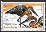 Sellos de Africa - Rwanda -  aves