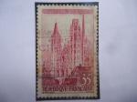 Sellos de Europa - Francia -  Cthedrale de Rouen - Catedral de Rouen - Sello de Servicio.