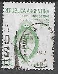 Sellos del Mundo : America : Argentina : Golpe militar del 4 de junio de 1943: Honestidad, Justicia, Deber