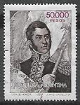 Sellos del Mundo : America : Argentina :   Gral. José de San Martín (1778-1850)
