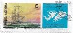 Sellos del Mundo : America : Argentina : Toma de posesión y primer izamiento del pabellón nacional en Malvinas