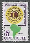 Sellos del Mundo : America : Uruguay : 50 años del Leonismo Internacional
