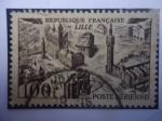 Sellos de Europa - Francia -  Lille - Ciudad de Lille (a orilla del río Daúle)