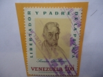 Sellos de America - Venezuela -  Simón Bolivar (1783-1830)-Dibujo de Santafereño José María Espinoza (1796-1883):