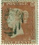 Sellos de Europa - Reino Unido -  Reina Victoria.Dentado 16