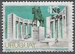 Sellos de America - Uruguay -  Monumento al Gral. Fructuoso Rivera