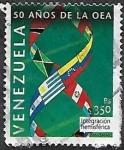 Sellos del Mundo : America : Venezuela : 50 años dela O.E.A. Integración hemisférica