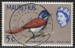 Sellos del Mundo : Africa : Mauricio : Aves - Paradise Flycatcher