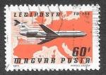 Sellos de Europa - Hungría -  C377 - Avión