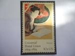 Sellos de America - Estados Unidos -  Universal Postal Union, 1874-1974-Cinco Virtudes Femeninas, por Katsushiki Hokusai (1760-1849)-Pinto