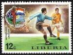 Sellos del Mundo : Africa : Liberia : Copa del Mundo de Football 1974 - Alemania