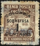 Sellos del Mundo : America : Colombia : Banco Postal de Colombia. Sobretasa 1942.