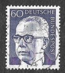 Sellos de Europa - Alemania -  1034 - Gustav Walter Heinemann