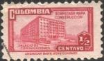 Sellos del Mundo : America : Colombia : Sobretasa para construcción. Palacio de Comunicaciones.