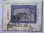 Sellos de America - Venezuela -  Reclamación de su Guayana-Apoteoisis de Miranda-Sello de 1896 dentro de otro Sello de 1965