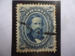 Sellos de America - Brasil -  Emperador Pedro II de Brasil (1825-1891)-