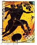 Sellos de America - Paraguay -  atletas griegos