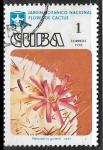 Sellos de America - Cuba -  Flores -Melocactus guitarti