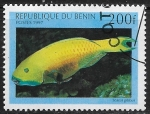 Sellos de Africa - Benin -  Peces - Scarus gibbus