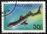 Sellos de Africa - Tanzania -  Peces - Etmopterus hillianus