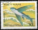 Sellos de Asia - Vietnam -  Peces - Cypselurus spilopterus