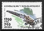 Sellos de Africa - Madagascar -  Peces - Stegostoma tigrinum