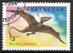 Sellos del Mundo : Asia : Kazajistán : Animales prehistóricos - Sordes pilosus