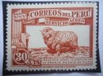 Sellos de America - Perú -  Oveja - Industria Lanar-Ejemplar de la Granja Modelo de Puno - Serie: Motivos del País - Correo Aére
